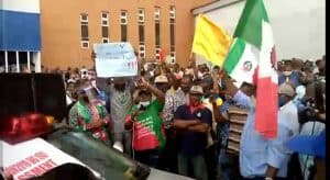 PHOTO: Protesting members of the Nigeria Congress